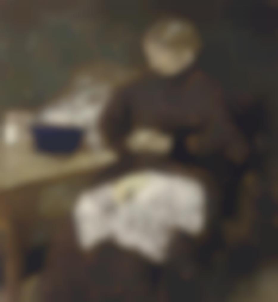 Edouard Vuillard-Madame Vuillard Epluchant Des Legumes-1895