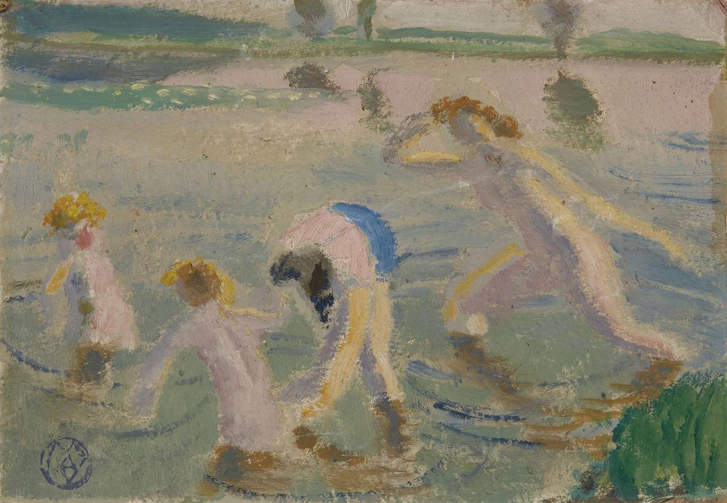 Maurice Denis-Baignade A Chateau-Gaillard (Esquisse)-1941