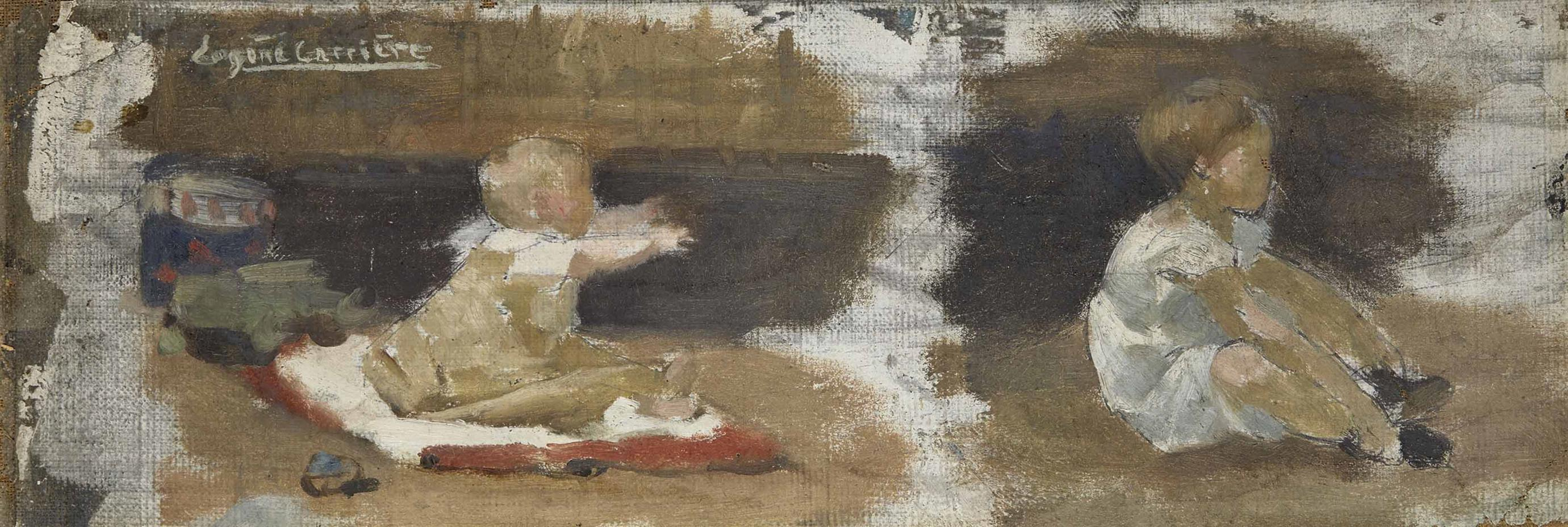 Eugene Carriere - Etude Denfants-1882