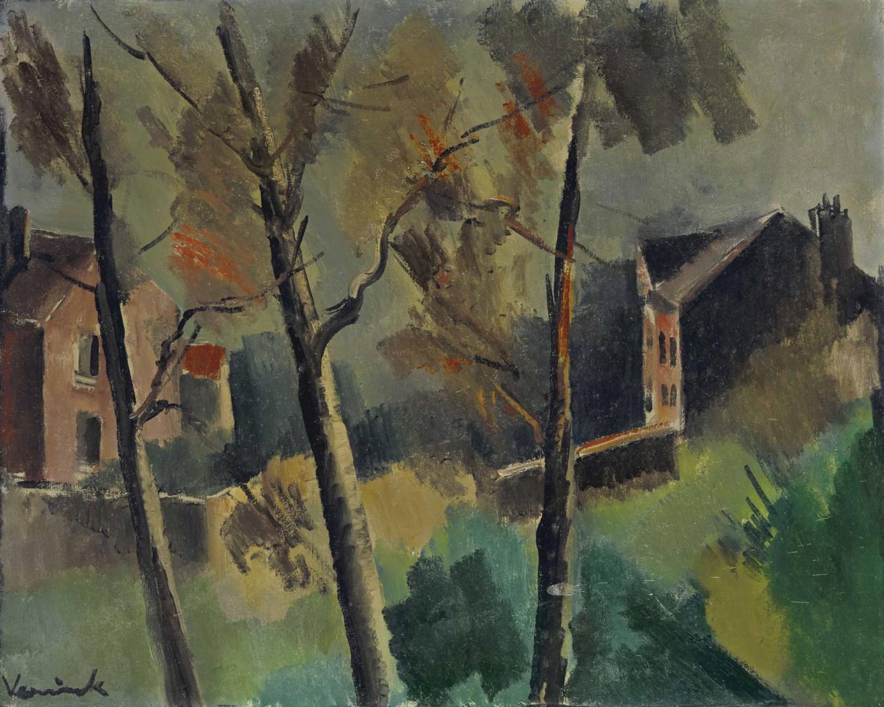 Maurice de Vlaminck-Maisons Et Arbres-1912