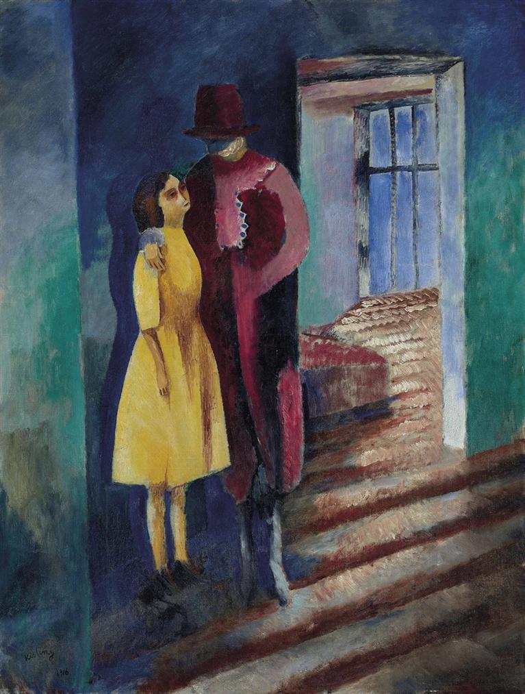 Moise Kisling-La Mere Et La Fille-1916
