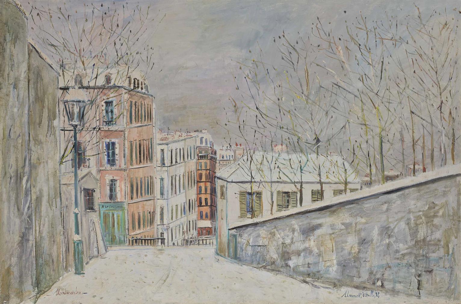 Maurice Utrillo-La Rue Du Mont-Cenis Sous La Neige-1935