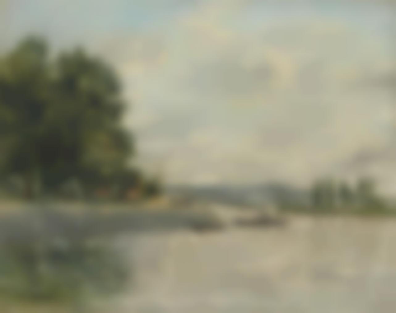 Eugene Louis Boudin-Caudebec-En-Caux, Bords De Seine-1892