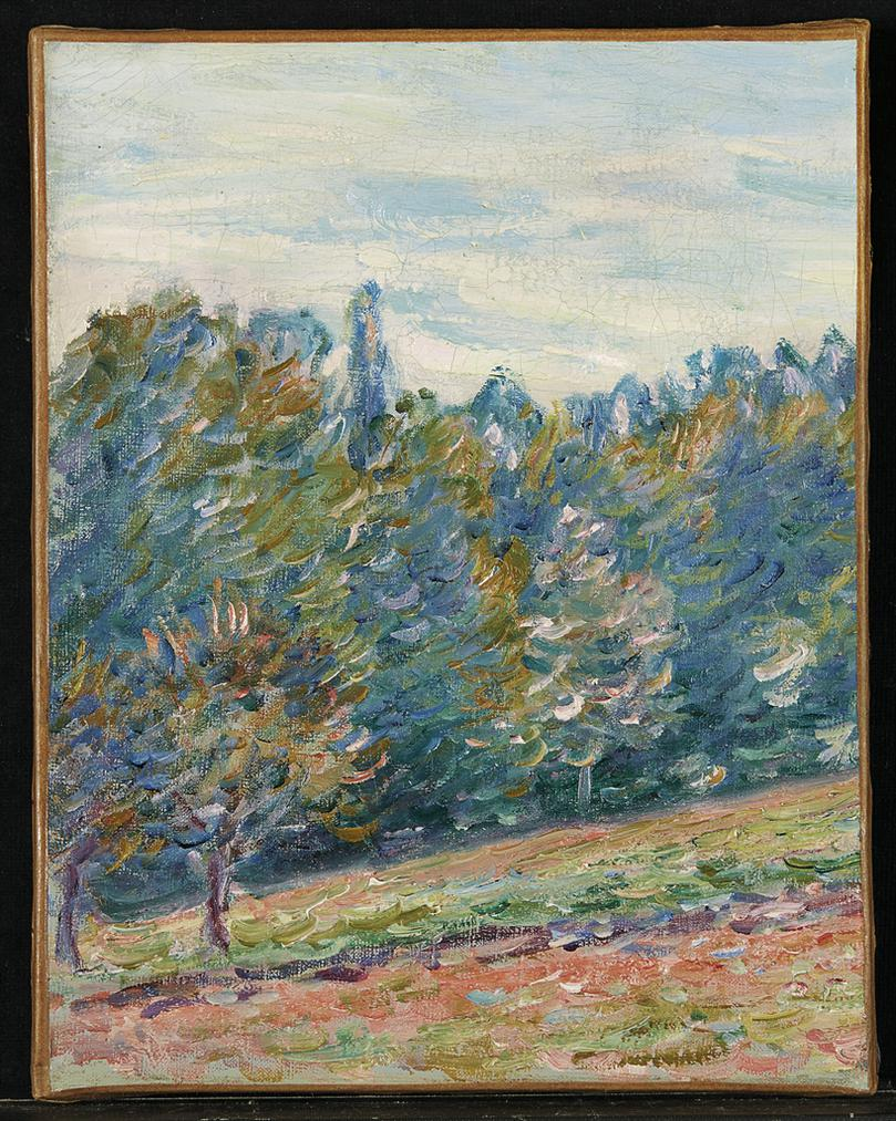 Alfred Sisley-Paysage Aux Environs De Moret-1886