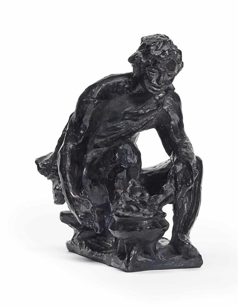 Pierre-Auguste Renoir-Le Feu Ou Le Petit Forgeron Accroupi Ou Le Berger-1916