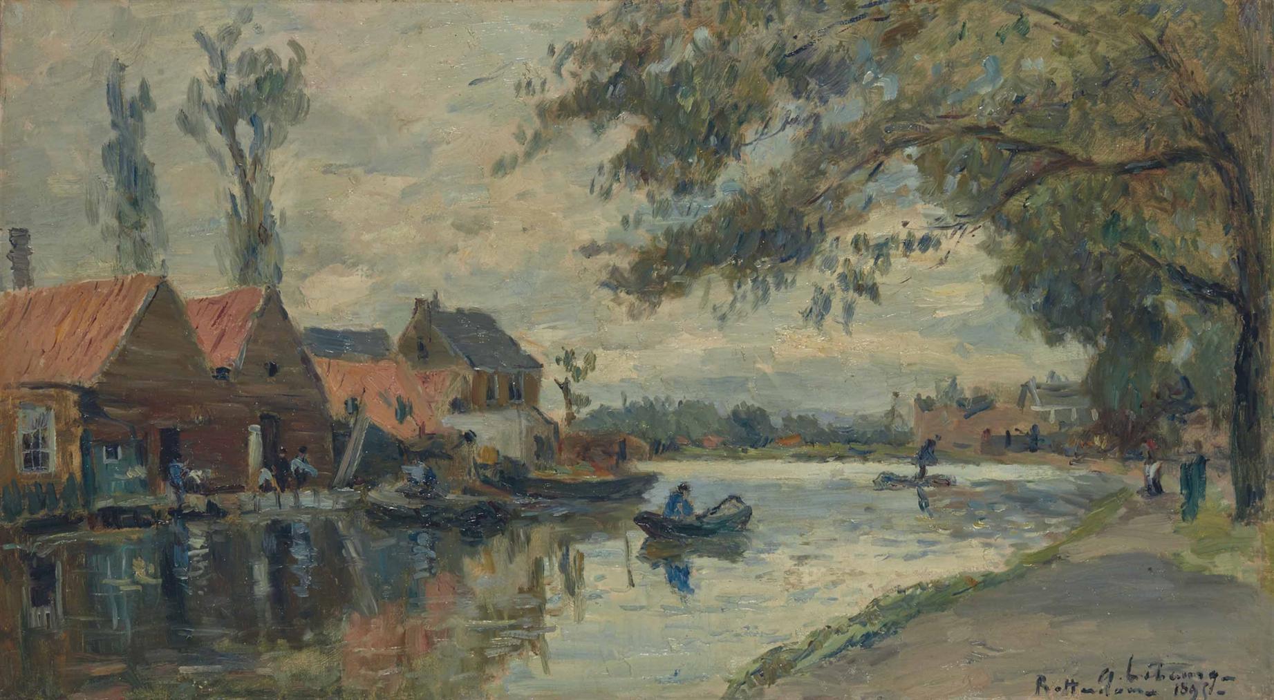 Albert Lebourg-Canal A Rotterdam-1895