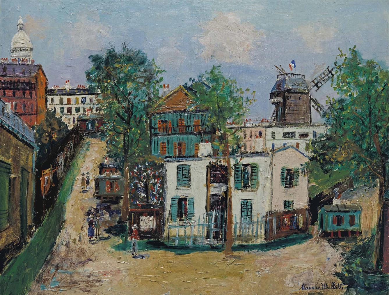 Maurice Utrillo-Maquis A Montmartre-1946
