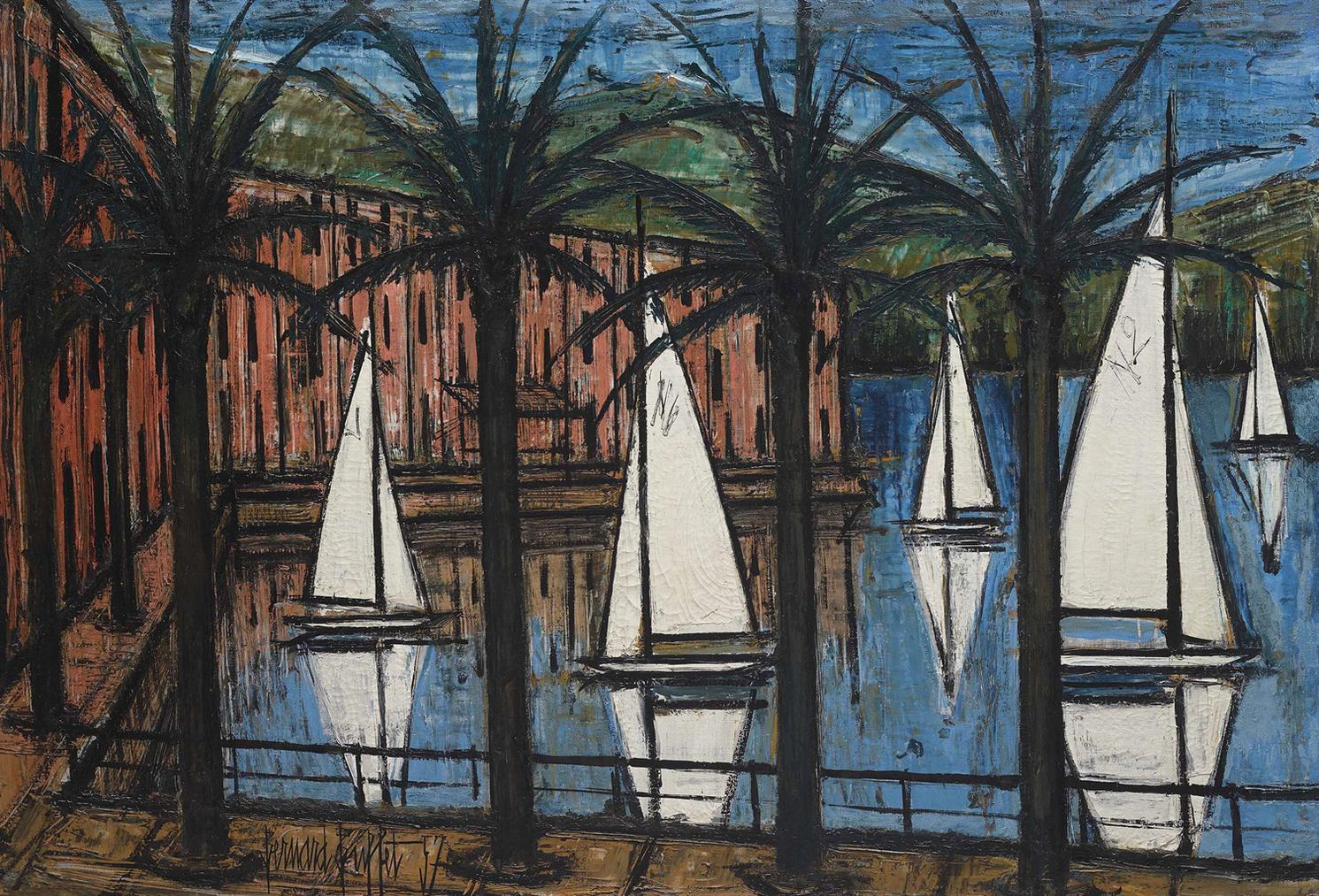Bernard Buffet-Le Port De Beaulieu-1957
