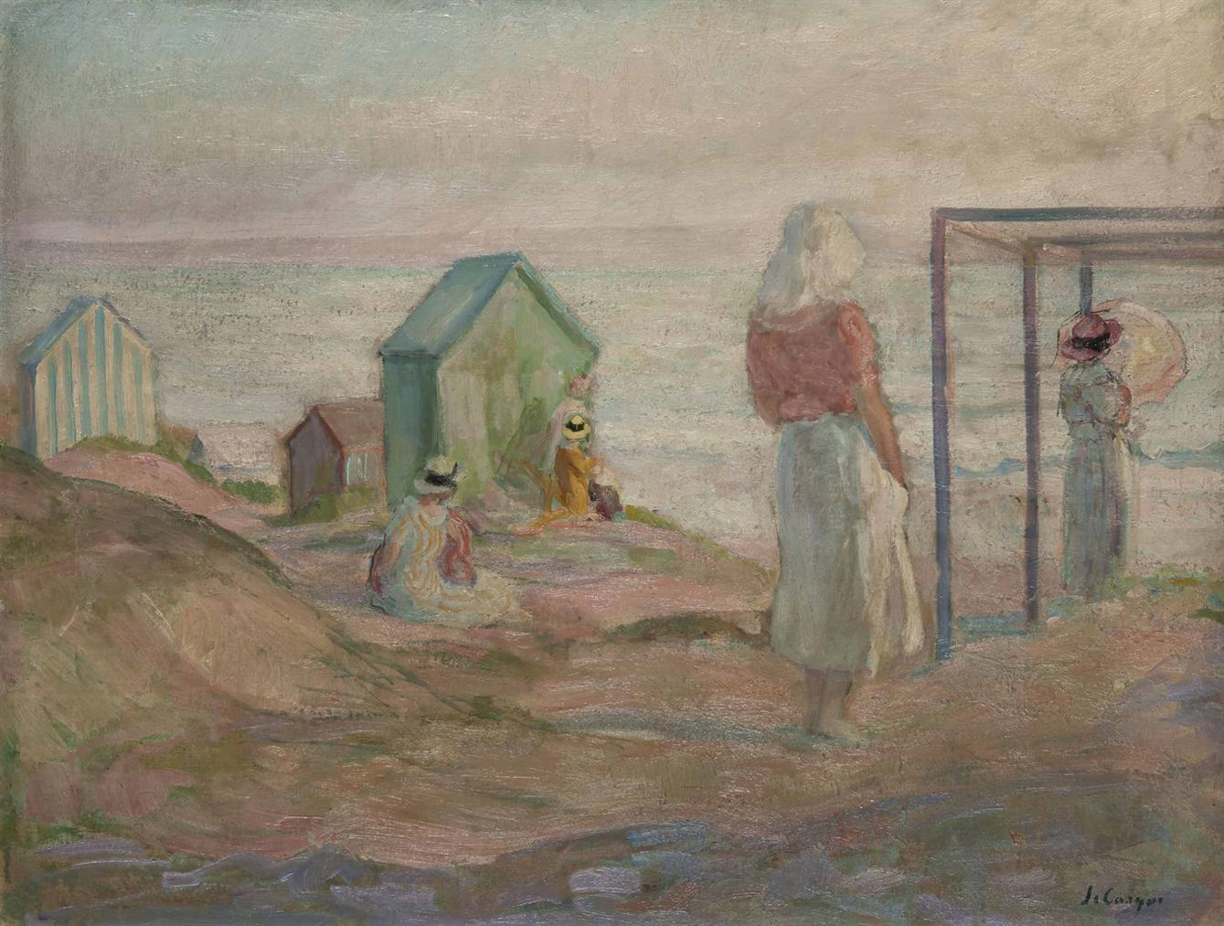 Henri Lebasque-Saint-Jean-De-Monts, Sur La Plage-1917