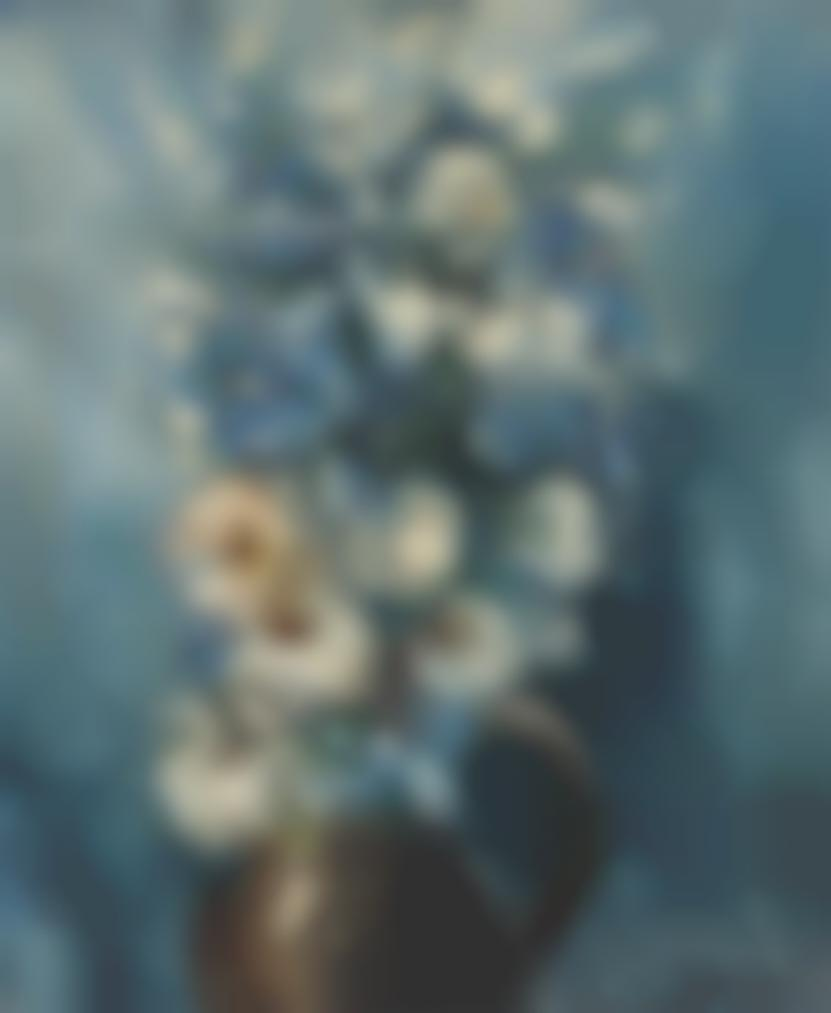Maurice de Vlaminck-Bouquet De Marguerites Et Bleuets-1949
