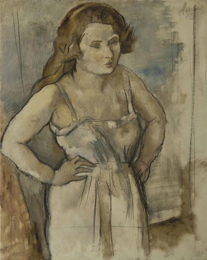 Jules Pascin-La Blonde Marcelle-1921