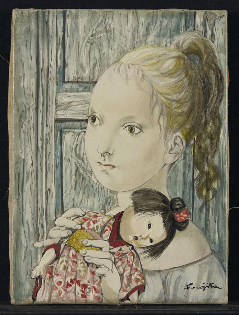 Tsuguharu Foujita-Fillette A La Poupee-1951