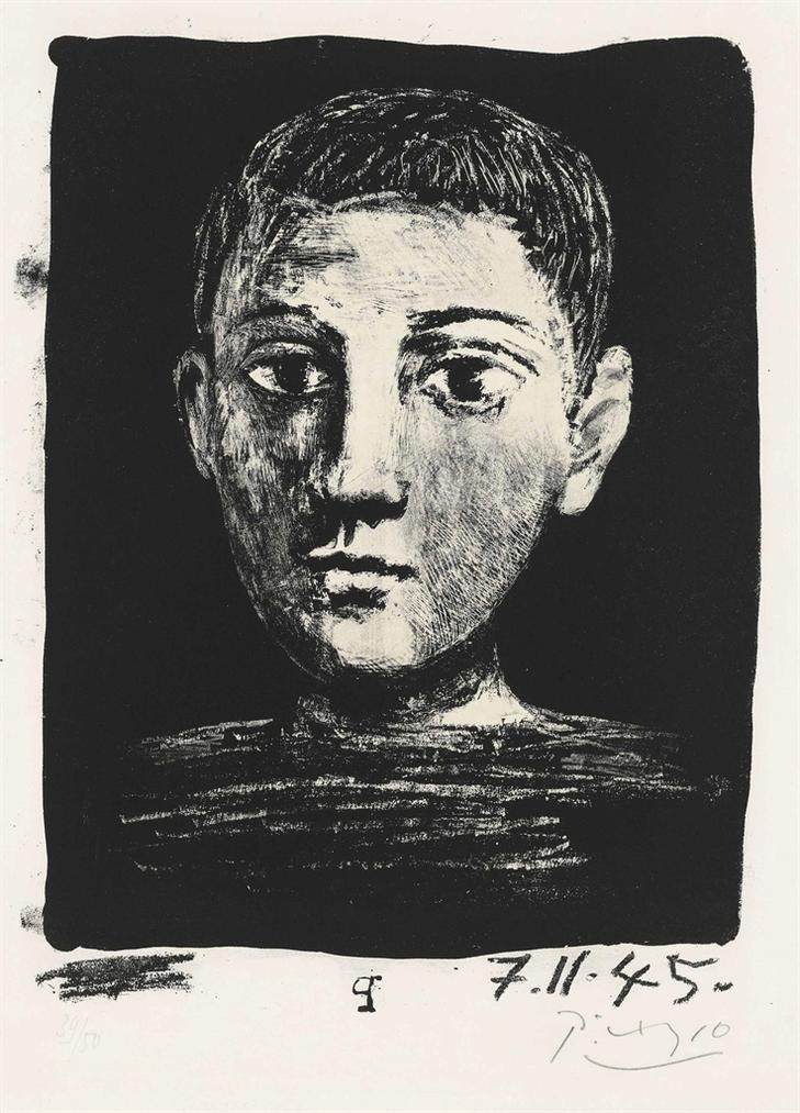 Pablo Picasso-Tete De Jeune Garcon-1945