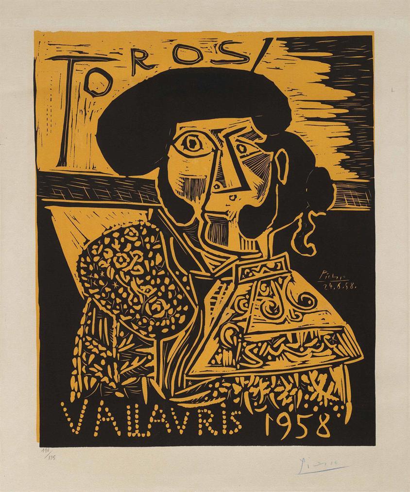 Pablo Picasso-Toros Vallauris-1958