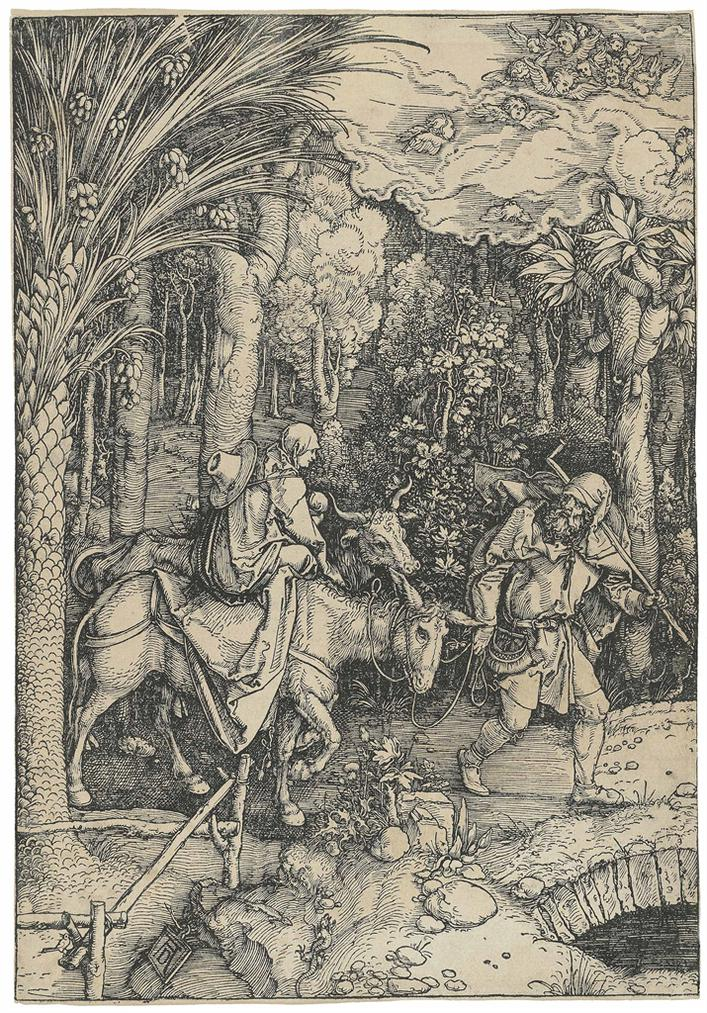 Albrecht Durer-The Flight Into Egypt, From: The Life Of The Virgin-1504