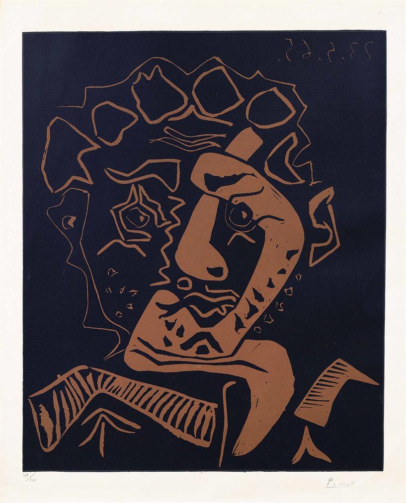 Pablo Picasso-Tete Dhistrion (Le Danseur)-1965