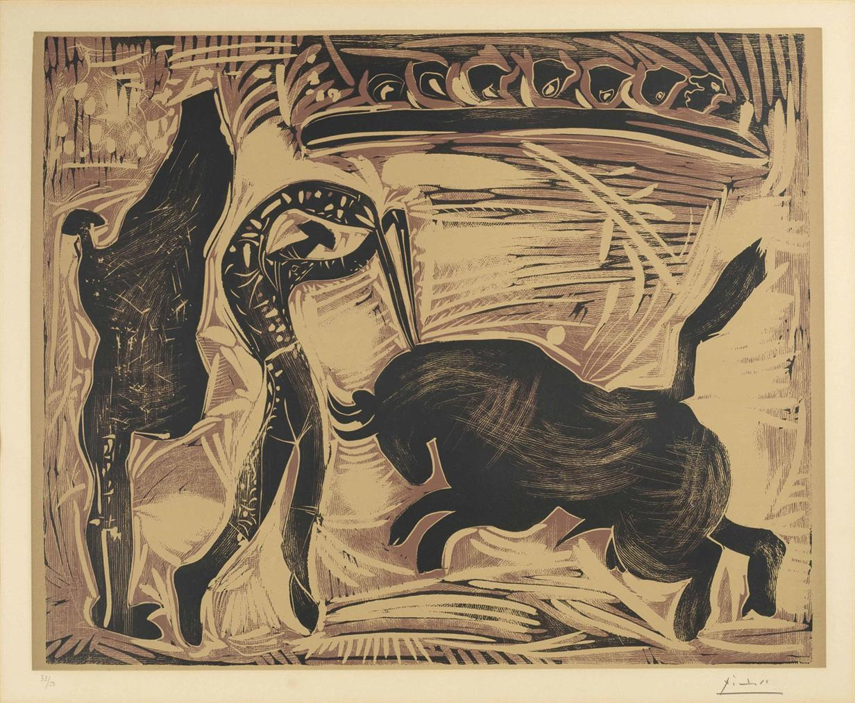 Pablo Picasso-Les Banderilles-1959