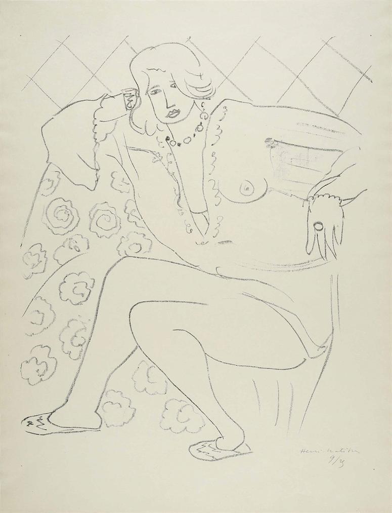 Henri Matisse-Figure Assise, Blouse Transparente-1929