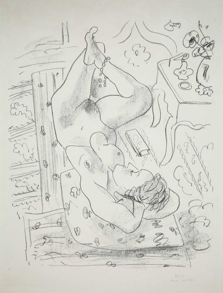 Henri Matisse-Nu Renverse Pres Dune Table Louis Xv-1929