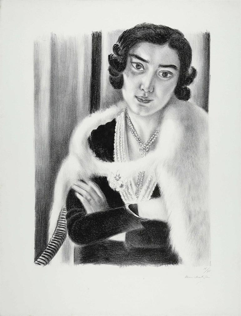 Henri Matisse-Le Renard Blanc-1929