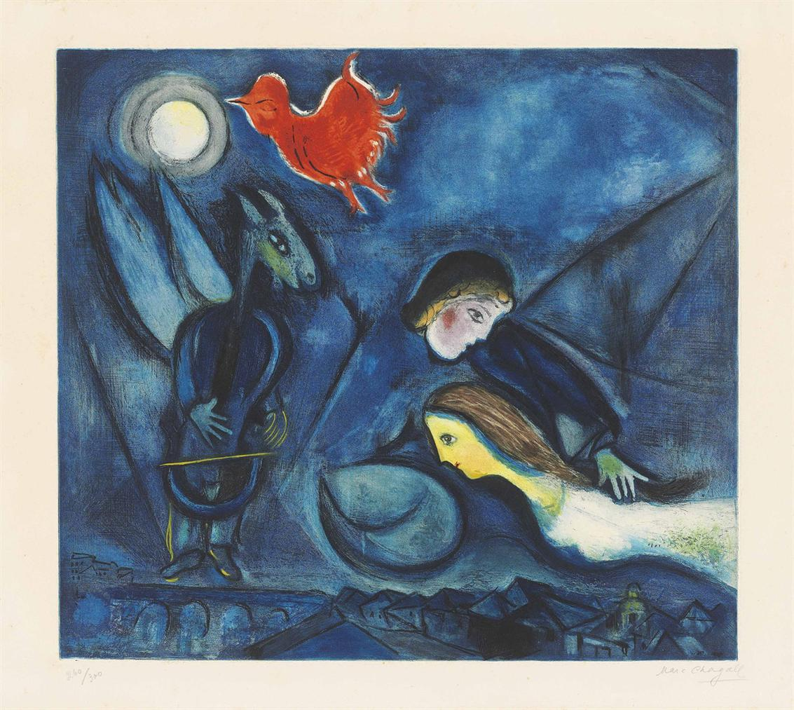 Marc Chagall-After Marc Chagall - Aleko-1955