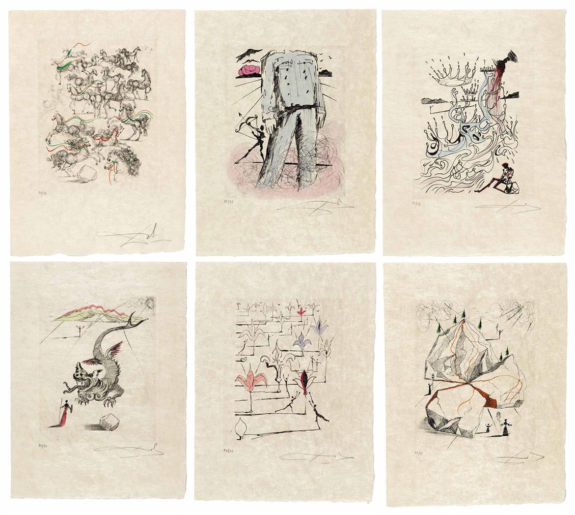 Salvador Dali-Poemes De Mao Tse-Tung-1967