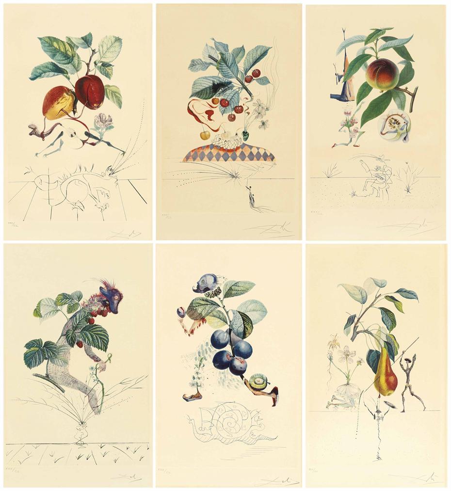 Salvador Dali-Flordali (Les Fruits)-1970