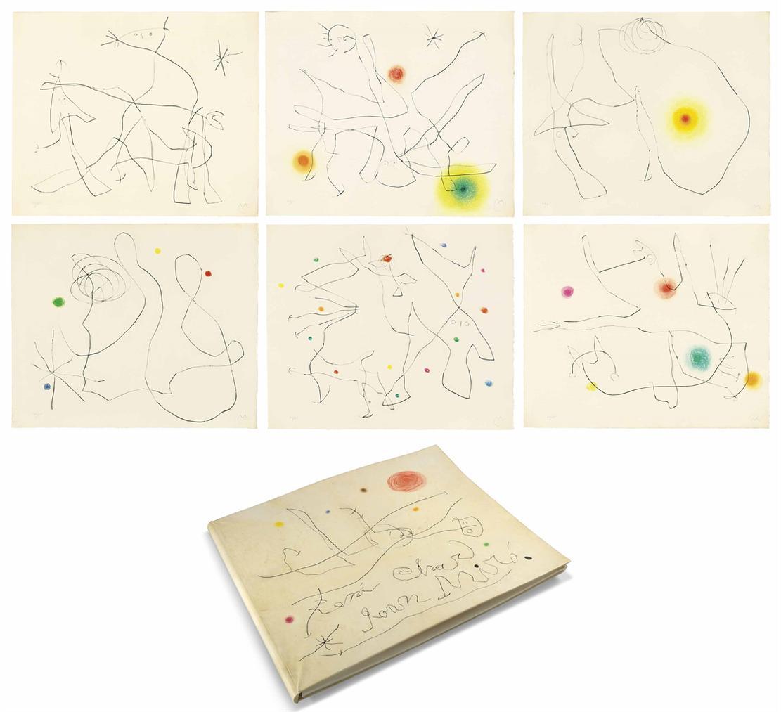 Joan Miro-Rene Char: Flux De Laimant-1964