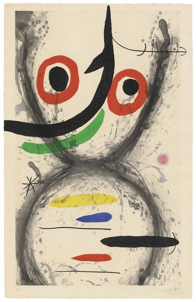 Joan Miro-Prise A Lhamecon-1969