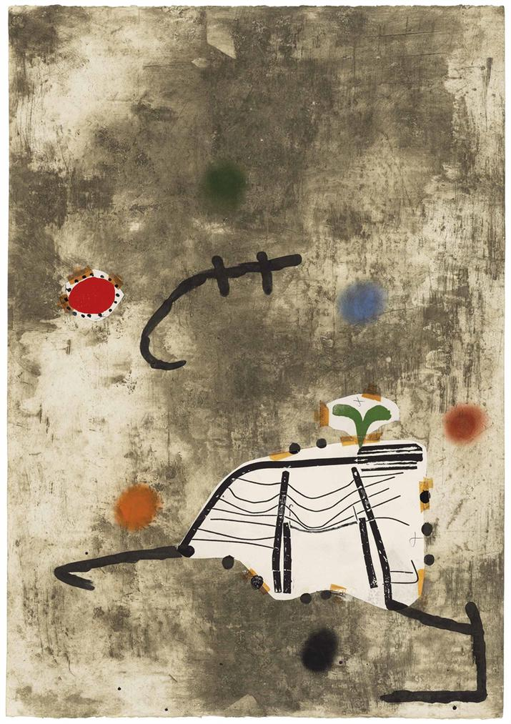 Joan Miro-Maquette For: Persontage I Estels II-1979