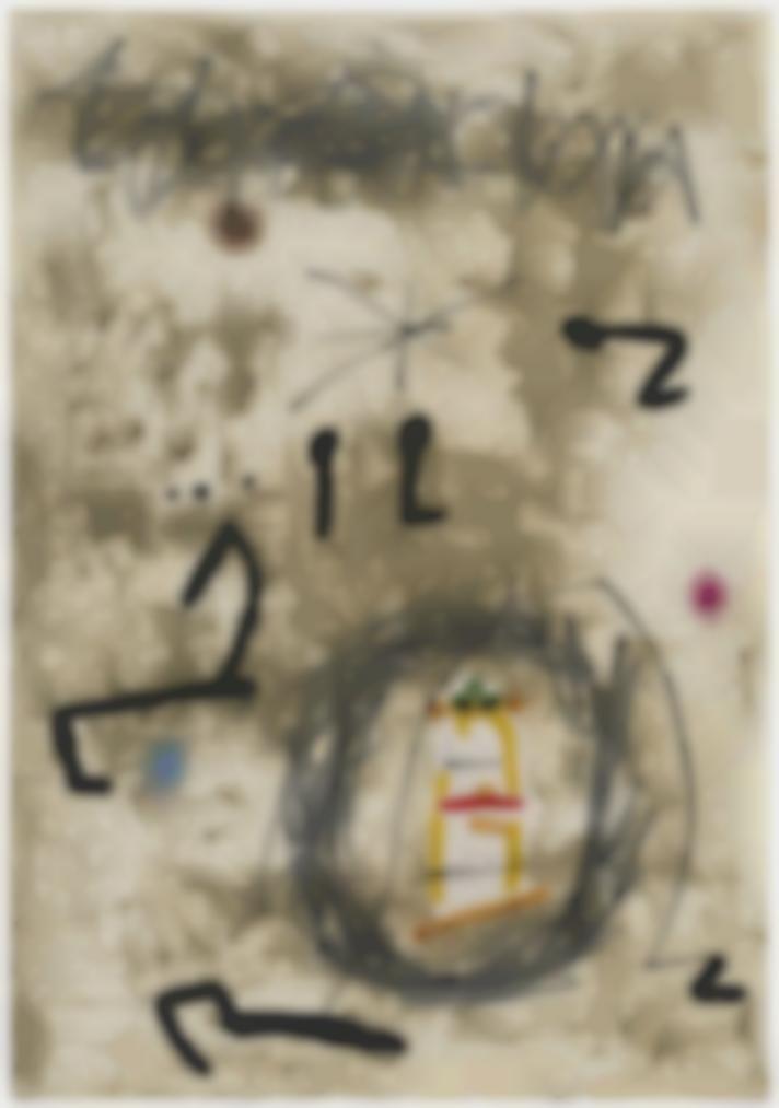 Joan Miro-Maquette For: Persontage I Estels V-1979