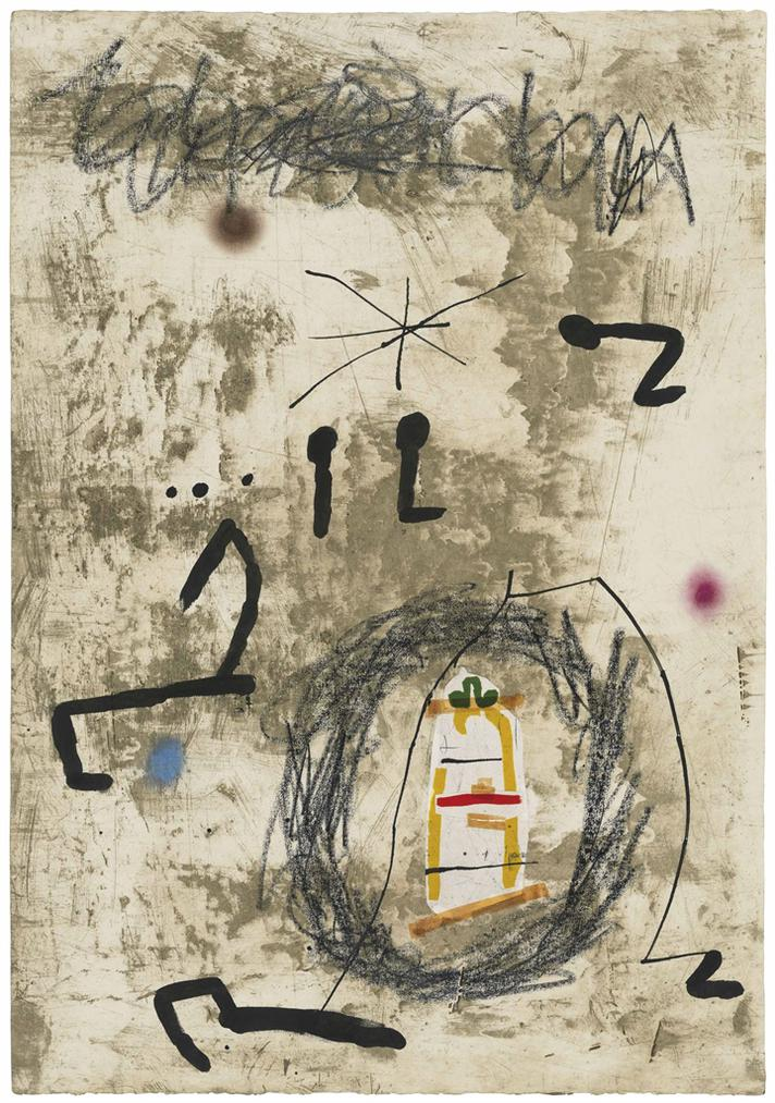 Joan Miro-Maquette For: Persontage I Estels V-1979