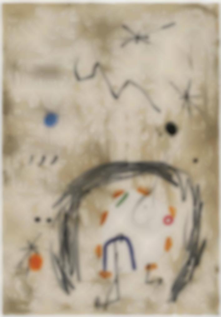 Joan Miro-Maquette For: Persontage I Estels VI-1979