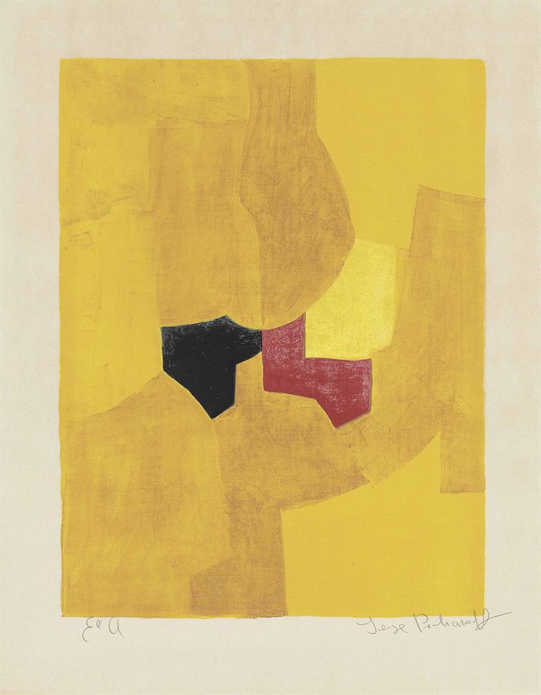 Serge Poliakoff-Composition Jaune-1965