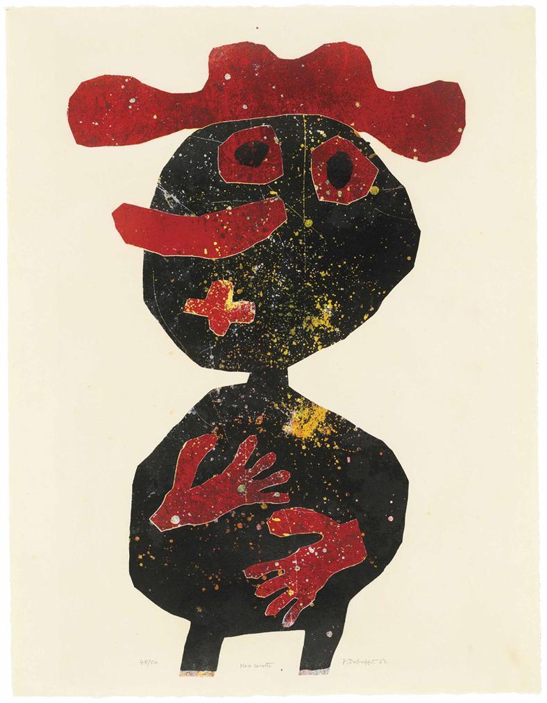 Jean Dubuffet-Nez Carotte-1962