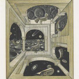 Maurits Cornelis Escher-Other World-1947