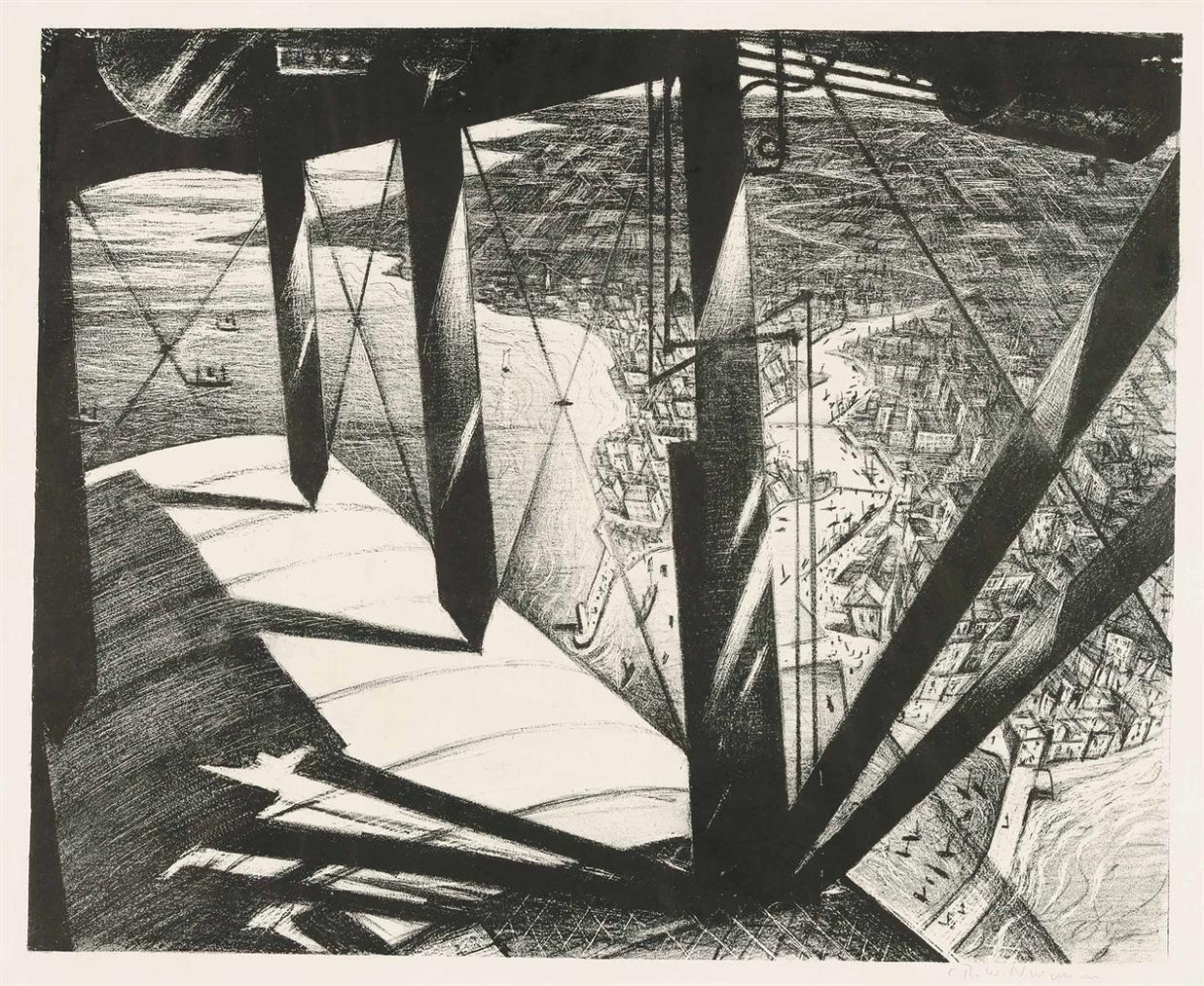 Christopher R. W. Nevinson-From A Paris Plane-1929