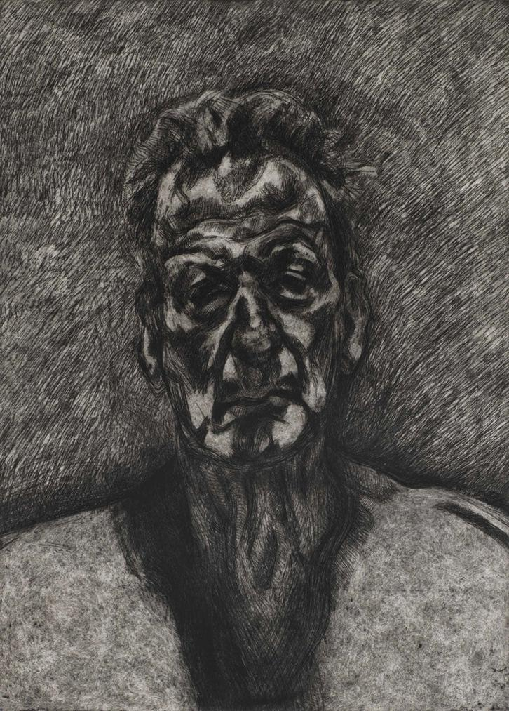 Lucian Freud-Self Portrait: Reflection-1996