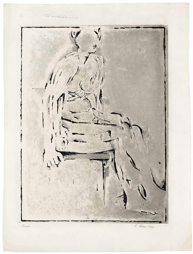Richard Hamilton-Re Nude Etching-1954