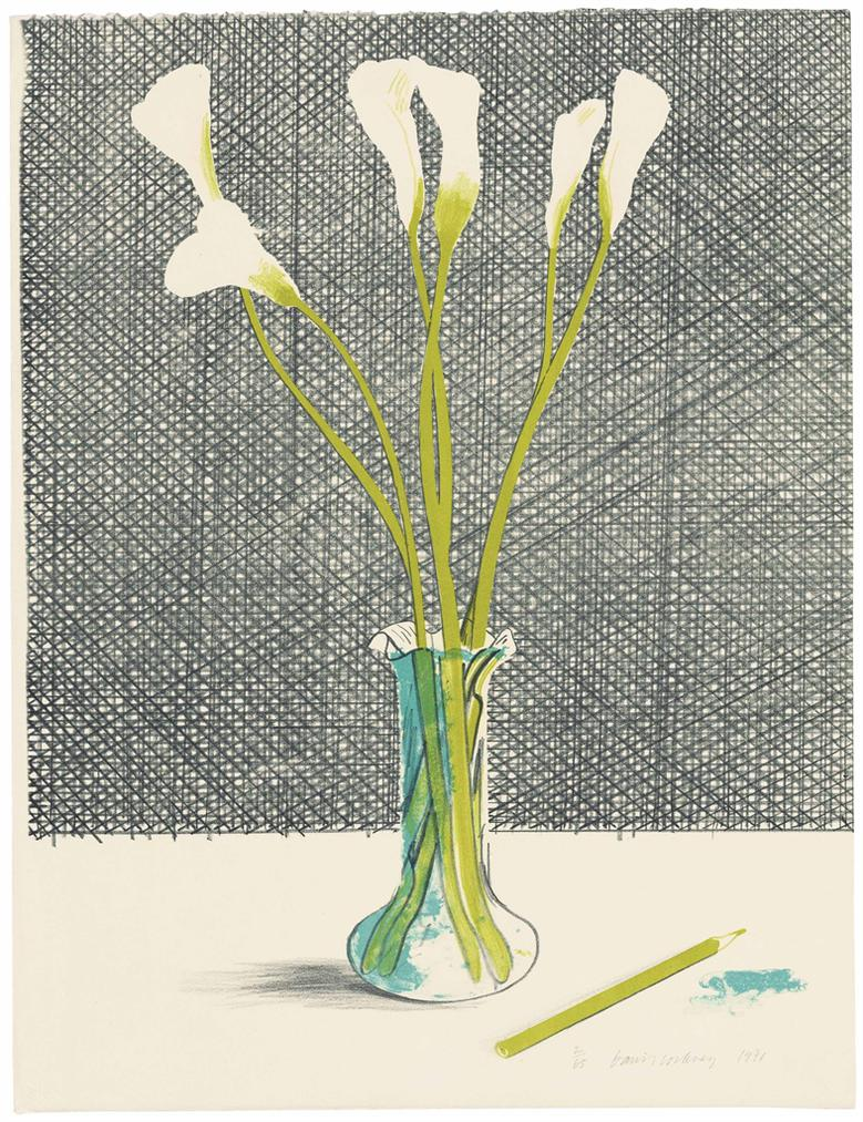 David Hockney-Lillies-1971