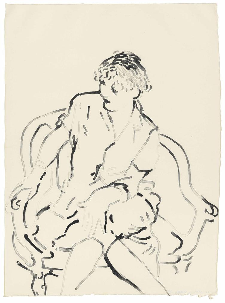 David Hockney-Celia - Inquiring-1979