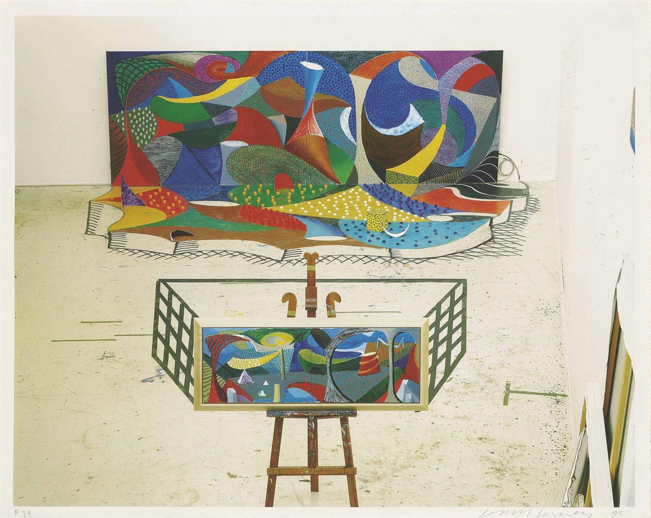David Hockney-The Studio March 28Th 1995-1995