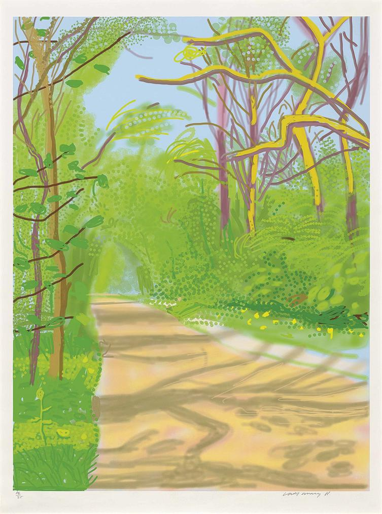 David Hockney-The Arrival Of Spring In Woldgate, East Yorkshire In 2011 (Twenty Eleven) - 25 April 2011-2011