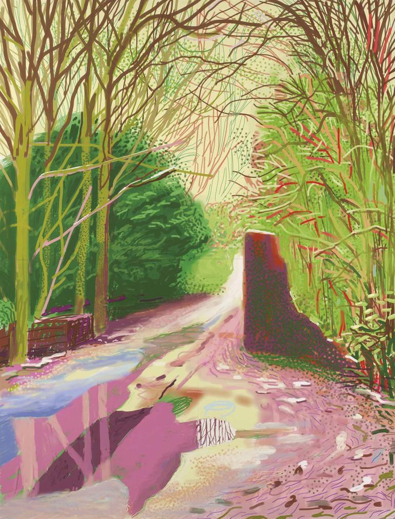 David Hockney-The Arrival Of Spring In Woldgate, East Yorkshire In 2011 (Twenty Eleven) - 2 January 2011-2011