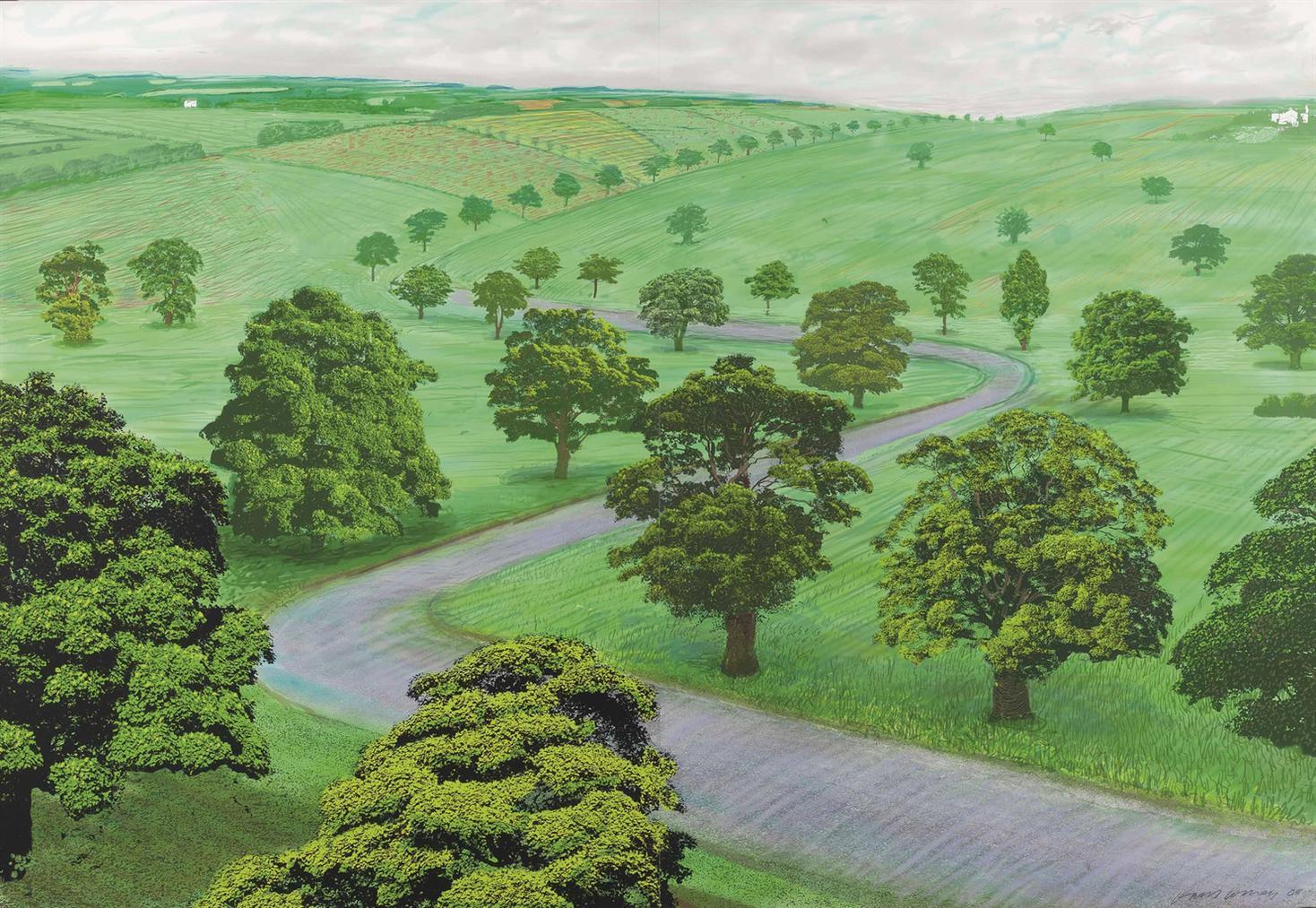 David Hockney-A Bigger Green Valley-2008