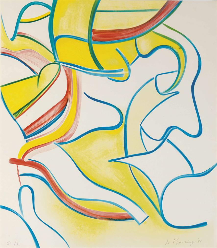 Willem de Kooning-One Plate, From: Quatre Lithographies-1986