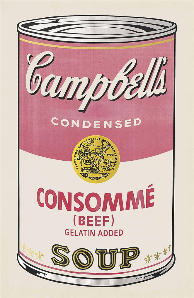 Andy Warhol-Beef Consomme, From: Campbells Soup I-1968