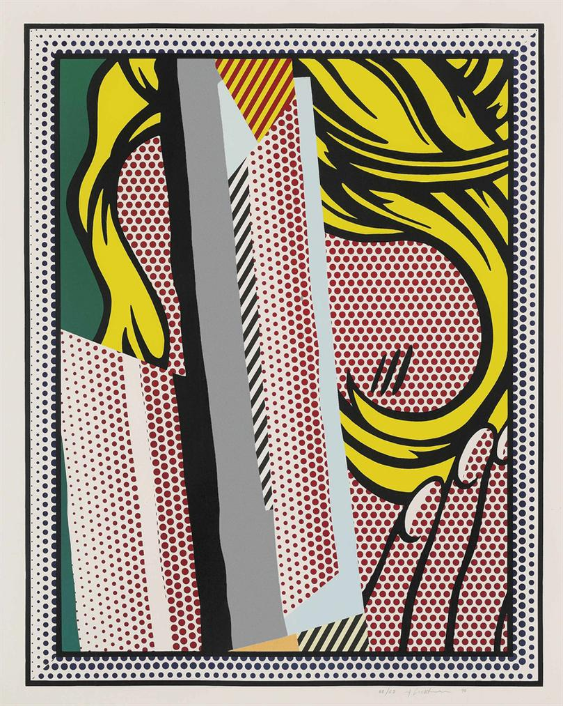 Roy Lichtenstein-Reflections On Hair, From: Reflections Series-1990