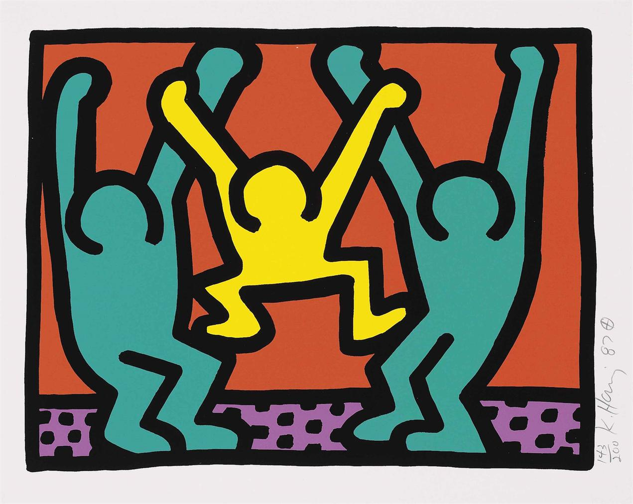 Keith Haring-One Plate, From: Pop Shop I-1987