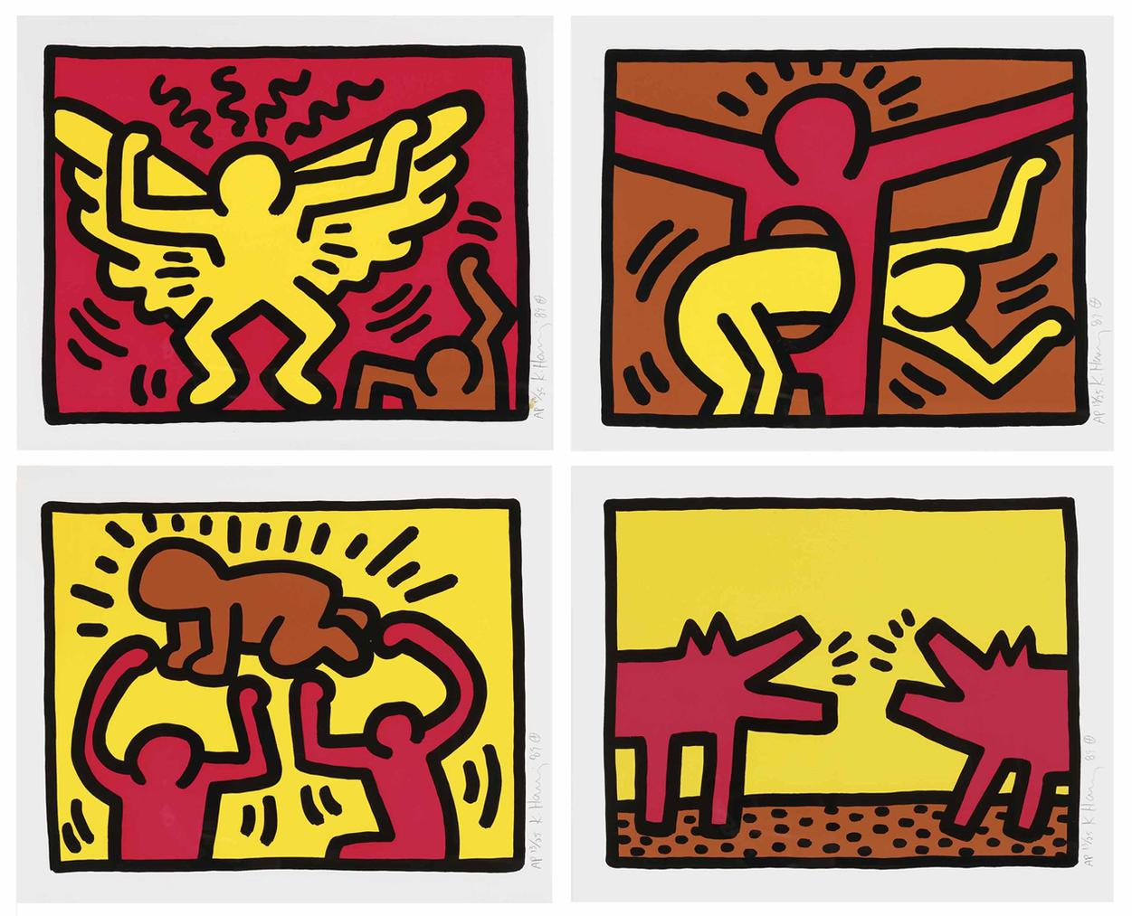 Keith Haring-Pop Shop Iv-1989
